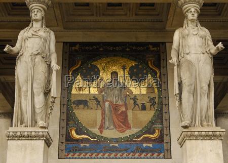 art antique tourism painting golden munich