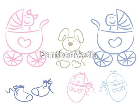 baby graphic set