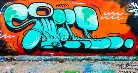 colour concrete letters daub graffiti grafitti