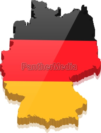 germany map with germany colors stock