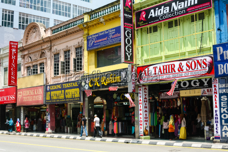 architecture of street with shop and