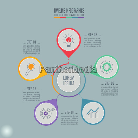 infographic design business concept with 5