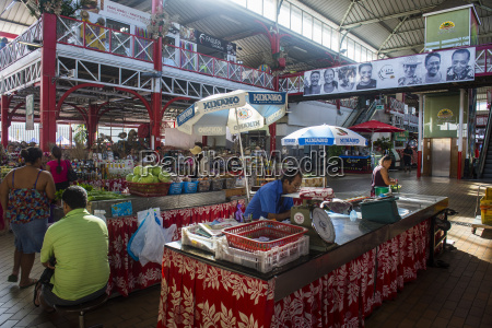 the central market of papeete tahiti